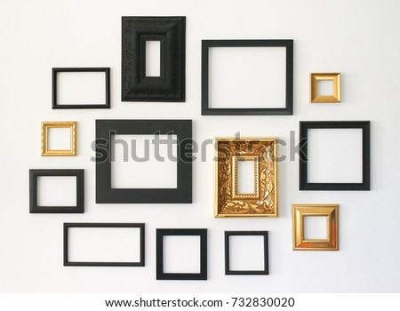 Multiple Many Blank Small Picture Frames Stock Photo (Edit Now ...