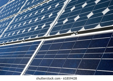 multiple solar panel designs working in unison.