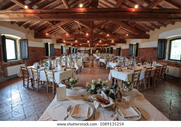 Magnificent Multiple Tables Banquet On Wedding Day Stock Photo Edit Now Machost Co Dining Chair Design Ideas Machostcouk