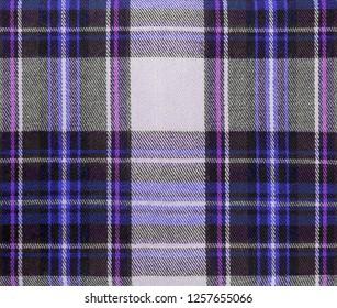 multi-purple Cameron Tartan fabric textile background