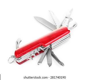 Multipurpose knife isolated on white