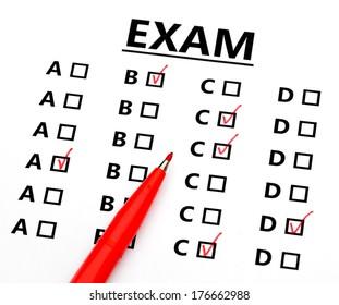 Multiquesion answer sheet