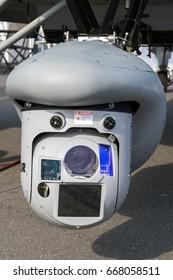 Multi-Sensor surveillance pod under an airplane