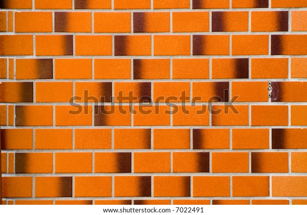 Multi-shade Red Brick Wall Background Texture, Horizontal