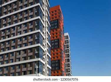 Multi-storey building under construction (new residential complex), Moscow, Russia