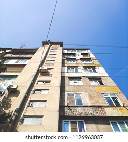 Multistory residential building with the poor population without repair