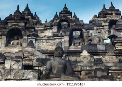 multi-terraced Borobudur Temple 9th-century Mahayana Buddhist temple in Magelang Regency,in Java, Indonesia