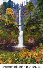 Multnomah Falls , Columbia River Gorge near Portland Oregon