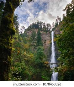 Multnomah Falls Double Waterfall