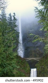 Multnomah Falls in the Mist