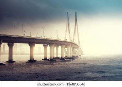 Mumbai Bandra Worli Sea Link bridge, Mumbai, India