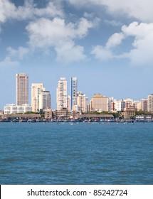 Mumbai capital of India skyline beach scene