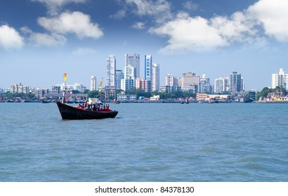 Mumbai capital of India skyline scene
