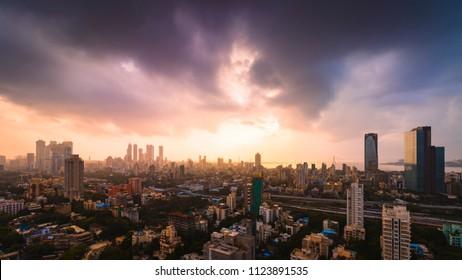 Mumbai cityscape- Dadar to Lower Parel