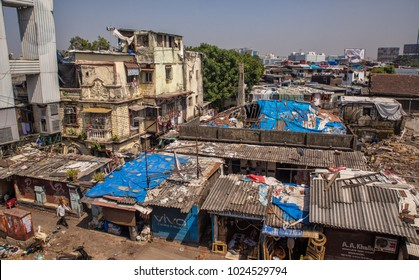 MUMBAI IDNIA 10.02.2018 - slum district in Mumbai