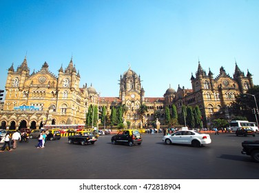Mumbai, India 10th December, 2014. Chhatrapati Shivaji Terminus formerly known as Victoria Terminus in South Mumbai, India is a UNESCO World Heritage Site.