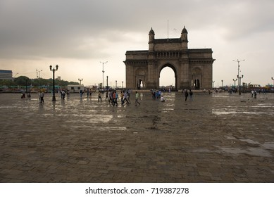 Mumbai / India 16 September 2017 The Gateway of India is an arch monument built during the 20th century at Apollo Bandar Colaba in Mumbai Maharashtra  India