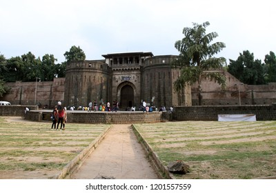 Mumbai / India 26, September 2018. Shaniwar Wada palace in Pune, India. It is a historical fort in Maharashtra; the palace built in 1732 it was the capital of the Peshwas of the Maratha Empire.