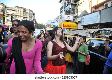 Mumbai / India 6 February 2016 Mumbai Gay Pride  LGBT, or GLBT community  marches  for equal status at   mumbai maharashtra  India