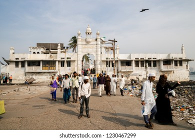 Mumbai, India - December 18, 2017 : Haji Ali Dargah mosque