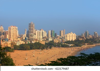 """MUMBAI, INDIA - DECEMBER 6, 2015: Juhu beach in Mumbai is home to many Bollywood celebrities referred as """"Beverly Hills of Bollywood"""" , on December 6, 2015 in South Mumbai, India."""