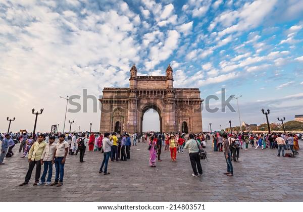 MUMBAI, INDIA - FEBRUARY 21: Gateway of India on Febuary 21, 2014 in Mumbai, India.