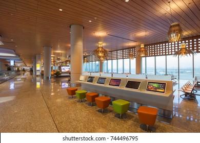 MUMBAI, India - January 21: Terminal 2 of Mumbai International Airport (BOM) on January 21, 2017.