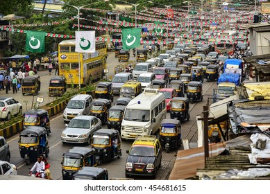MUMBAI, INDIA - JULY 2016: Traffic in India's largest city