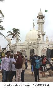 Mumbai, India - June 24, 2017: The premise of the Haji Ali Dargah