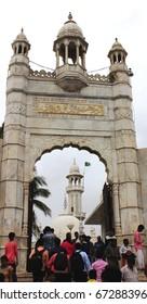 Mumbai, India - June 24, 2017: The entrance of the Haji Ali Dargah