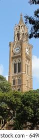 Mumbai, India - May 27, 2017: Rajabai Tower - a famous clock tower located in South Mumbai