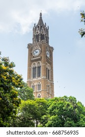 Mumbai, India, May 3rd, 2017, Clock tower of the University of Mumbai (University of Bombay),  one of the first state universities of India and the oldest in Maharashtra.