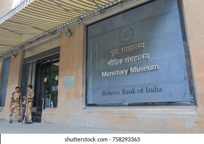 MUMBAI INDIA - NOVEMBER 11, 2017: Monetary Museum in Mumbai.