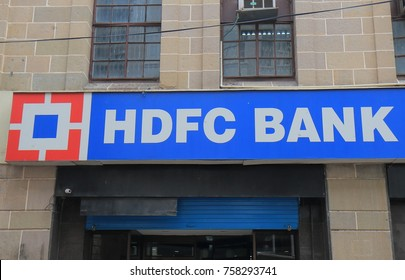 MUMBAI INDIA - NOVEMBER 11, 2017: HDFC bank India. HDFC bank is India's largest private sector lender by assets