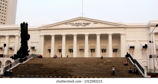 Mumbai, India - October 18, 2015 : The famous steps outside the Asiatic Library Building