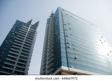 MUMBAI, INDIA - October 24, 2011: Peninsula Business Park Towers, Lower Parel west, Mumbai, Maharashtra, India, Southeast, Asia.