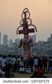 Mumbai; India: October 24; 2012: Vijayadashami also known as Dasahara, Dusshera, Dasara, Dussehra or Dashain is a major Hindu festival celebrated at the end of Navratri every year.
