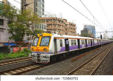 Mumbai local train of central railway, indian railway running in city of mumbai