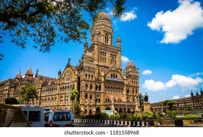 Mumbai, Maharashtra / India - 09/12/2018: Municipal Corporation of Greater Mumbai, also known as Brihanmumbai Municipal Corporation. It is India's richest municipal corporation. Mumbai photography.