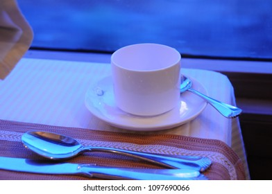 MUMBAI, MAHARASHTRA, INDIA 21 MARCH 2015 : Indian delicious food for tourist of the Deccan Odyssey luxurious passenger train, at Peshwa restaurants on board the Deccan Odyssey train.