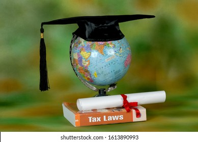 Mumbai, Maharashtra, India- Asia, July 22, 2006 - Concept; A law degree is an academic degree conferred for studies in law. Such degrees are generally preparation for legal careers.
