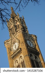 Mumbai; Maharashtra; India- Asia; March; 2013: The Rajabai Clock Tower was designed by Sir George Gilbert Scott, an English architect. located in University of Bombay World Heritage Sites in 2018.