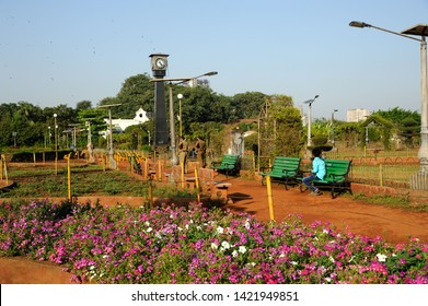 Mumbai; Maharashtra; India- Asia; March; 2015 : Pillar of friendship tower and clock Bombay municipal corporation or hanging garden or pherozeshah mehta garden malbar hill grant road bombay