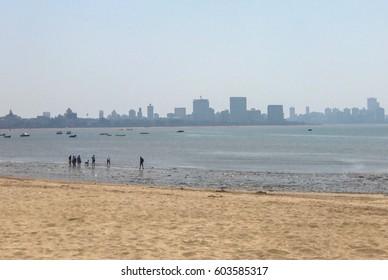 Mumbai - March 2017: Marine drive beach