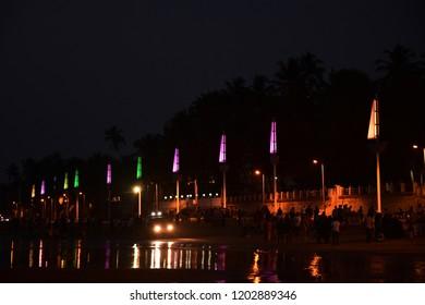 Mumbai at night near juhu