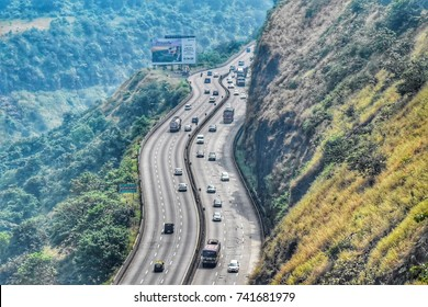 Mumbai- October 2017: View of Mumbai-Pune Expressway.
