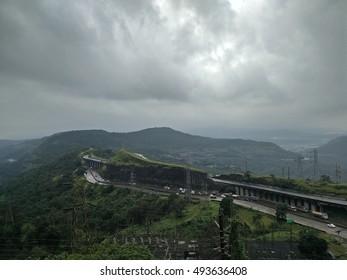 Mumbai Pune Expressway clicked while descending the Lonavala peak.