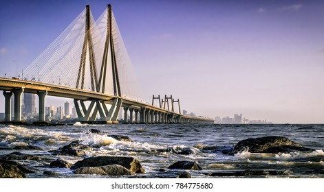 Mumbai Sea Link as from viewed from Bandstand
