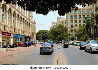Mumbai/India Circa'19:View of Hiranandani Powai,with ATMs/Eateries, along the road.Hiranandani is an upmarket township in Mumbai suburbs.With Sec370 & 35A scrapped,Real Estate is likely to boom in J&K
