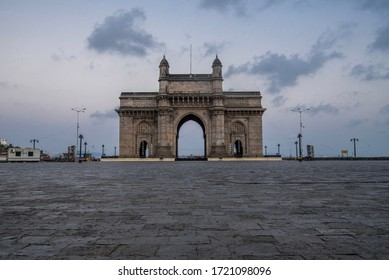 MUMBAI/INDIA -MAY 3, 2020: General view of a deserted Gateway of India during the government-imposed nationwide lockdown as a preventive measure against the COVID-19 coronavirus.